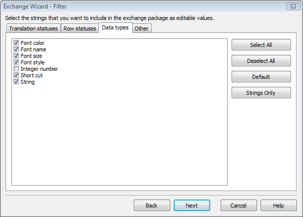 Excluded Types in Exchange Wizard