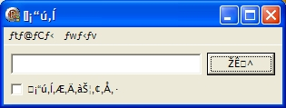 This is a dialog shown with wrong system code page